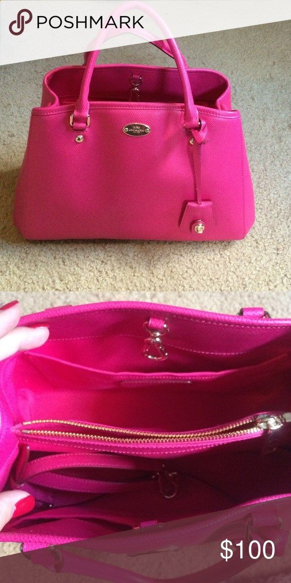 Pink coach purse Beautiful pink coach purses. Used only a few times. Comes with shoulder strap as shown in the pic of the inside of the purse. Its so beautiful! Coach Bags Shoulder Bags