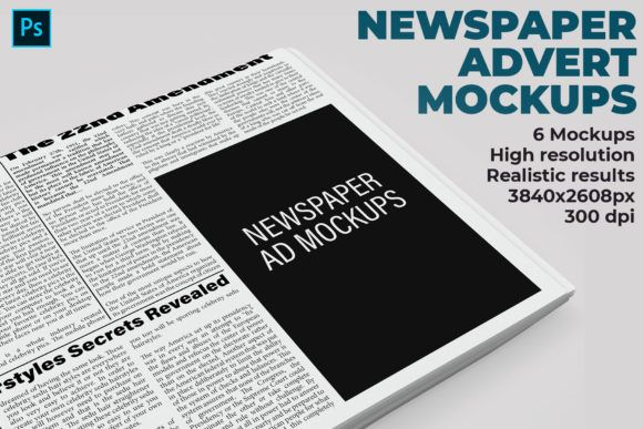 Download Newspaper Advert Mockups Graphic By Illusiongraphicdesign Creative Fabrica Design Mockup Free Mockup Template Free Psd Mockup Template