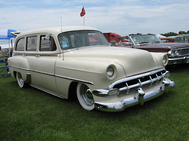 1954 Chevy Wagon...ours was lt blue on the bottom..white