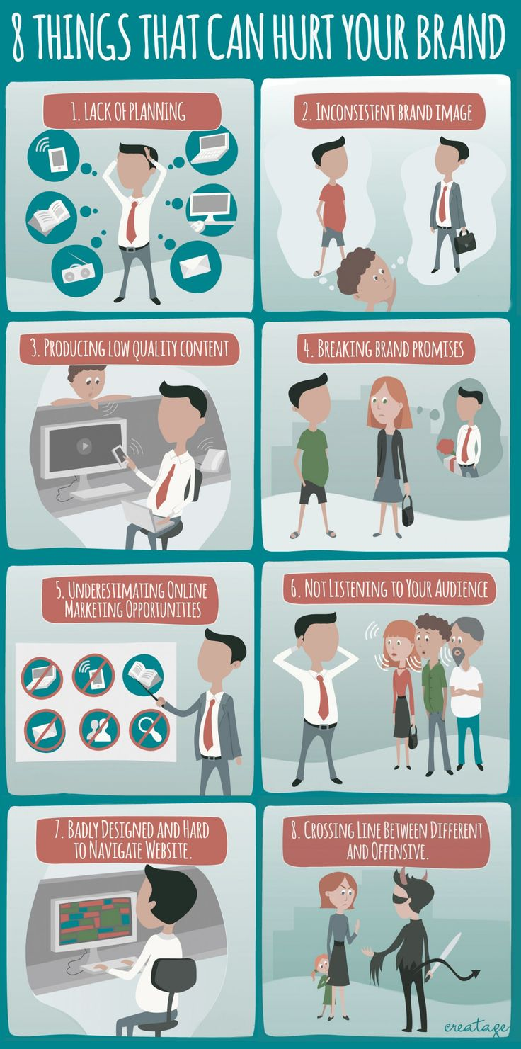 Your brand is seriously important - it's what people see of you. However, what 8 things could hurt it? Find out via the infographic below! (Source: Creatag