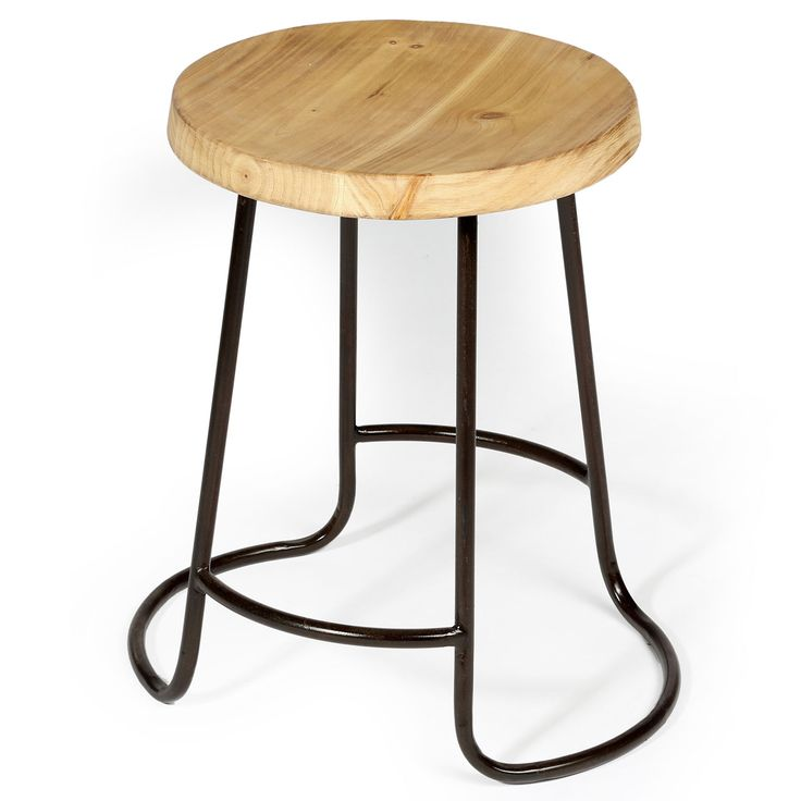 Iron And Timber Round Stool | 44x46cm by Bold Boutique Updates on POP.COM.AU