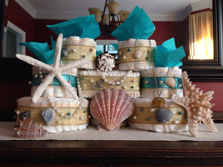 Sand Castle Diaper Cake by KeysterCakes on Etsy https://www.etsy.com/listing/239636660/sand-castle-diaper-cake
