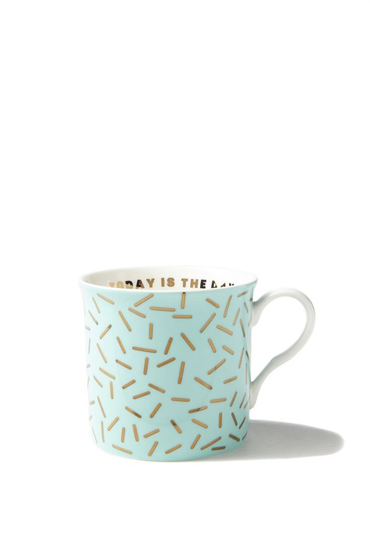 Slurp your morning coffee in this super cute mug with a message inside! Made from porcelain. 200mL volume. Dishwasher and microwave safe.