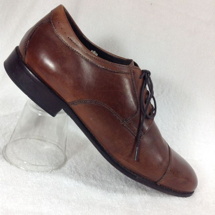 JOHNSTON MURPHY Mens Shoes 11 Mahogany Leather Emmert Captoe Derby Oxford Lace #JohnstonMurphy #DerbyOxfords #Formal