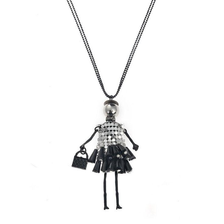 Pendant Necklace Fashion Doll  Women Choker Long Necklace Women Girl