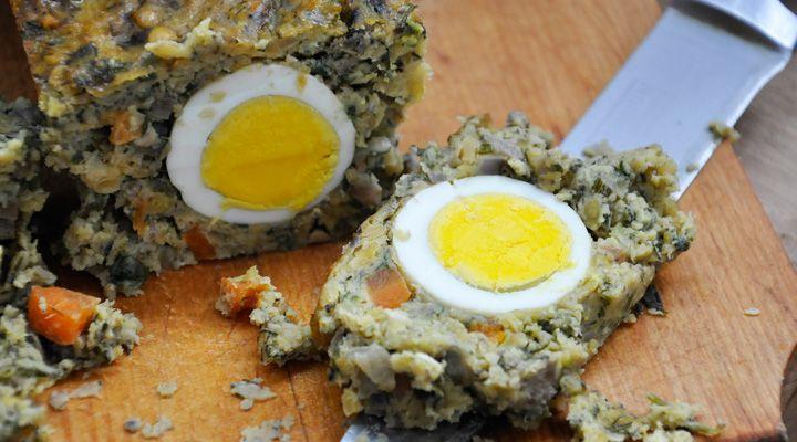 Veggies and Mushroom Bake with egg
