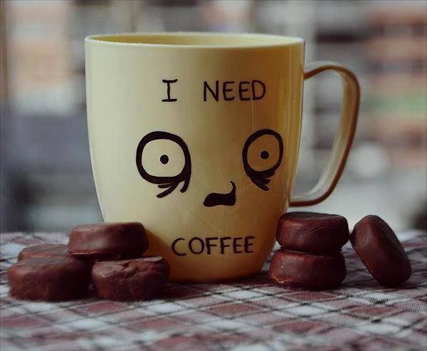 This is definitely what we look like before a cup of coffee. Check out our site for Grounds & Hounds mugs to add to your real mug collection!