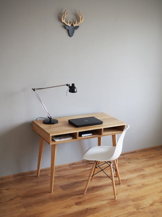 Work desk Where are the drawers computer deskOak by PracowniaEMBE