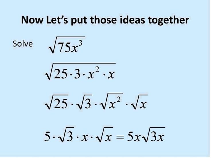 Square Roots with Variables (Simplifying Math)