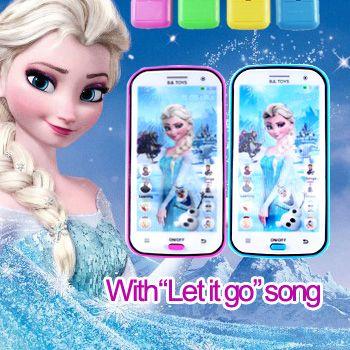 1 PCS Multifonctionnel Jouet Téléphone Elsa De Projection Musicale avec Chanson Laisser Aller Électronique Jouets pour Bébé Cadeau De Noël
