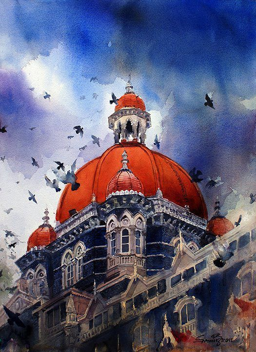 Watercolor paintings by Samir Mondal by India Artist, via Behance