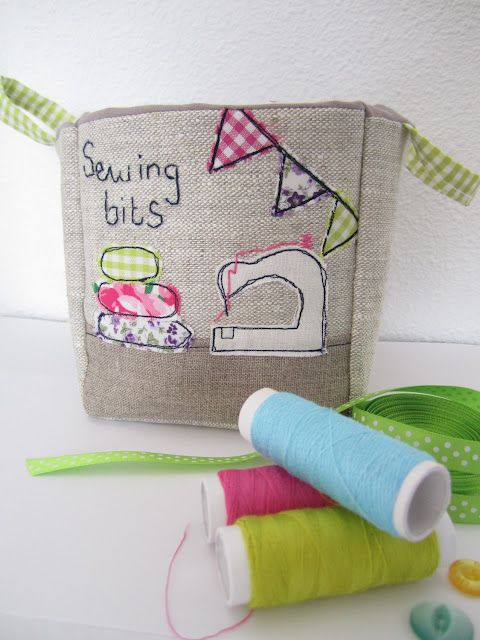 Fabric Box for your Sewing Bits