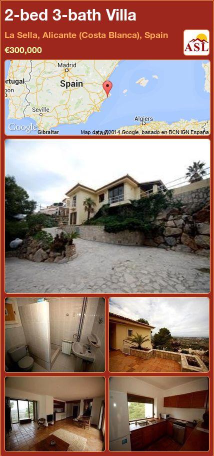 2-bed 3-bath Villa in La Sella, Alicante (Costa Blanca), Spain ►€300,000 #PropertyForSaleInSpain