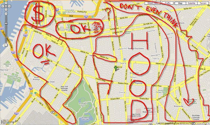 brooklyn map makes me laugh Pinterest Live map