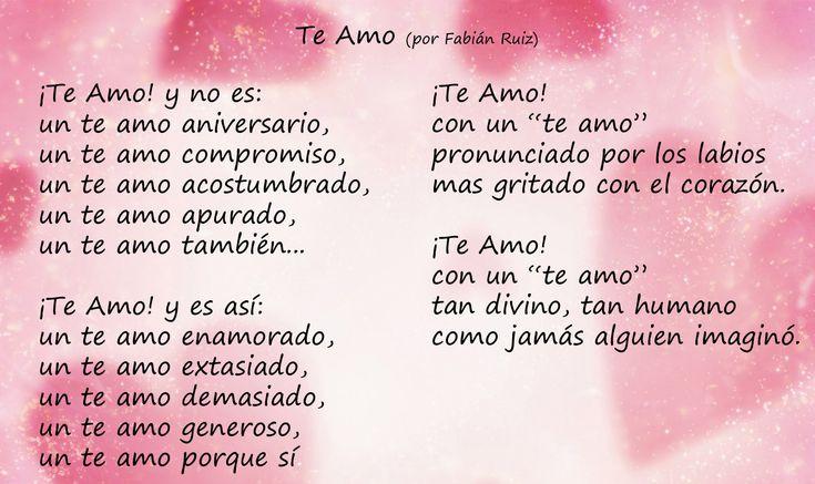 amor espanol | Poemas de Amor para el día del Amor | Amor y Tinta