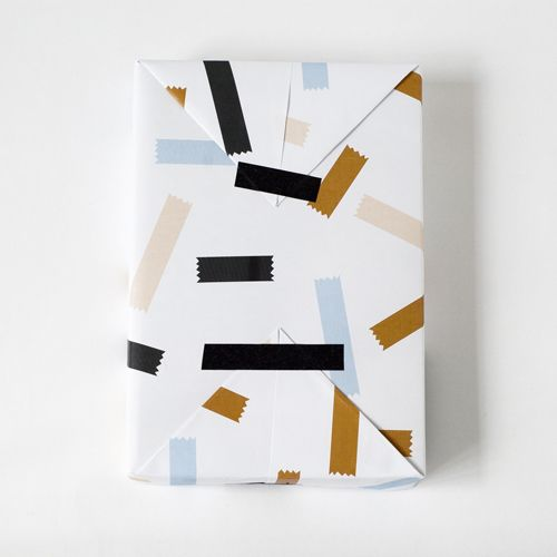 wrap paper with tape, Jessica Nielsen