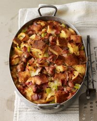 Ham and Sausage Strata