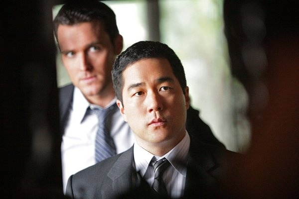 Owain Yeoman and Tim Kang in The Mentalist