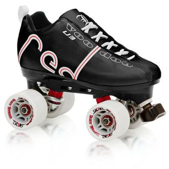 Labeda Voodoo U3 Outfit Black  Labeda's lacing 'em up and steppin' onto the rink with an all-new look. Get off your rear and get into gear with Labeda's new Voodoo line of skates. http://shop.rollwithitct.com/Labeda-Voodoo-U3-Outfit-Black-L642-SESLVU3BL.htm