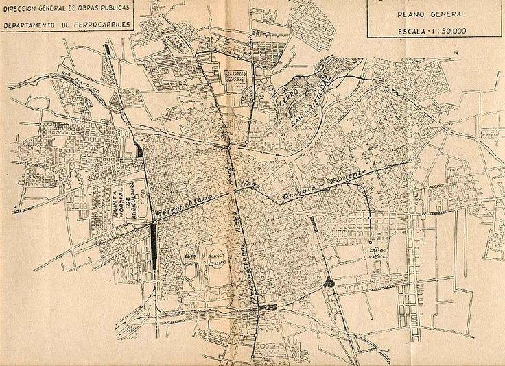 Plano metro 1944 - Historia y desarrollo del Metro de Santiago - Wikipedia, la enciclopedia libre