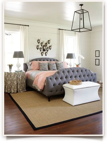 Bed from Ballard. WANT!!!  Southern Living Idea House 2012 | How To Decorate