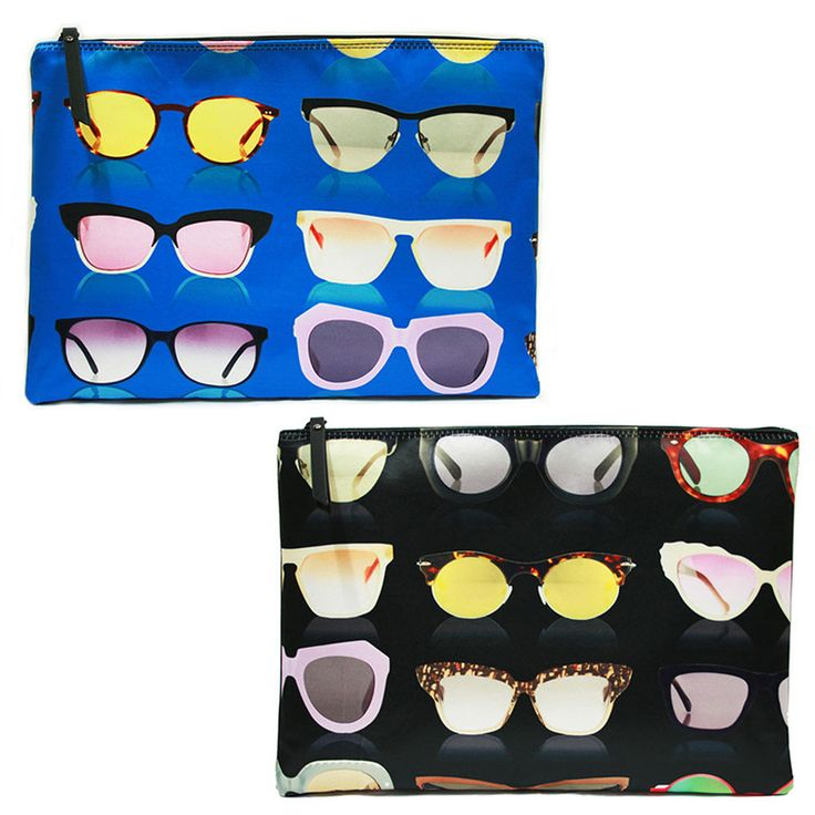 Korea Women SUNGLASSES Clutch Pouch Bag Handbag Purse Faux Leather Polyester  #KoreaBrand #Clutch