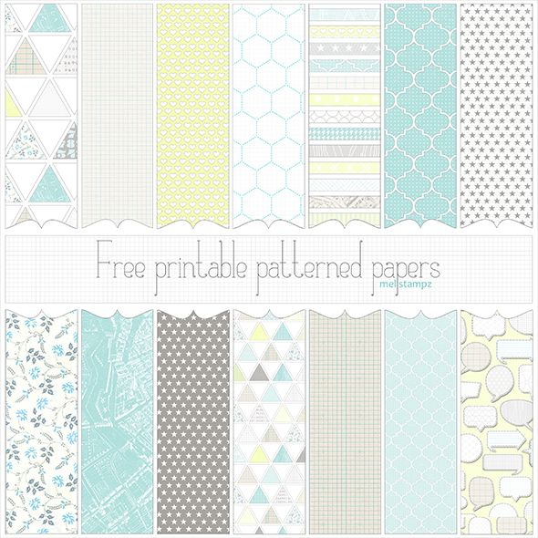 Mel Stampz: Love Graphics free printable/digital patterned paper set