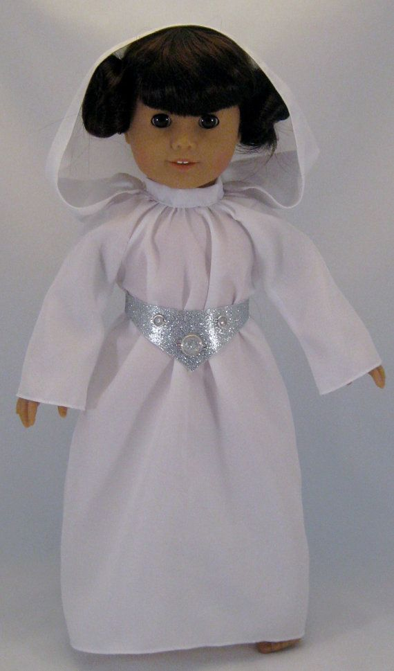 Doll Clothes Princess Leia From Star Wars fits American Girl Doll or other 18 inch Dolls