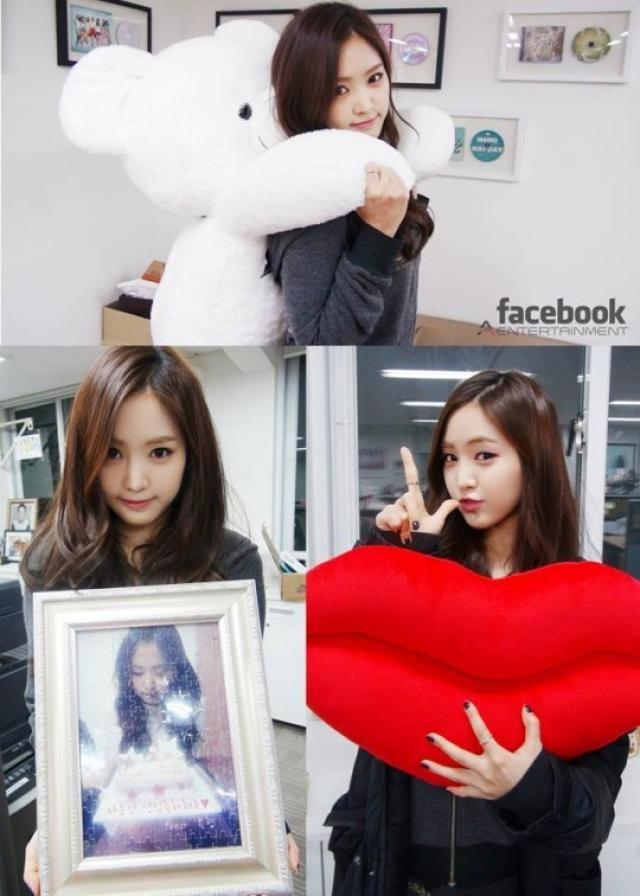 Son Naeun birthday gift