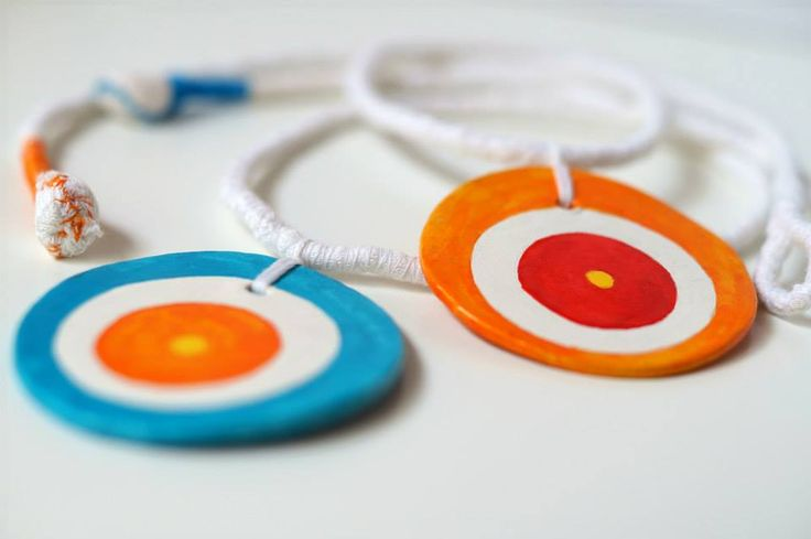 Pendant (clay-fabric) Anna Spathari
