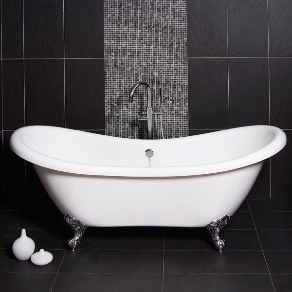 91 best baths images on pinterest roll top bath. Black Bedroom Furniture Sets. Home Design Ideas
