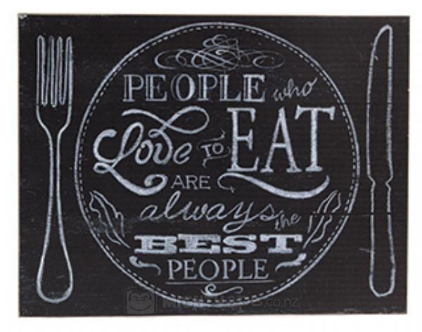 General Eclectic Wooden Wall Art Plaque - Julia Child Quote | at Mighty Ape NZ