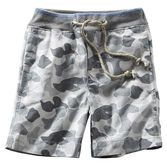 Cute camouflage canvas surfer shorts are made for cool activities like scavenger hunts and soccer. Mix and match with his favorite tops and he'll be comfy.