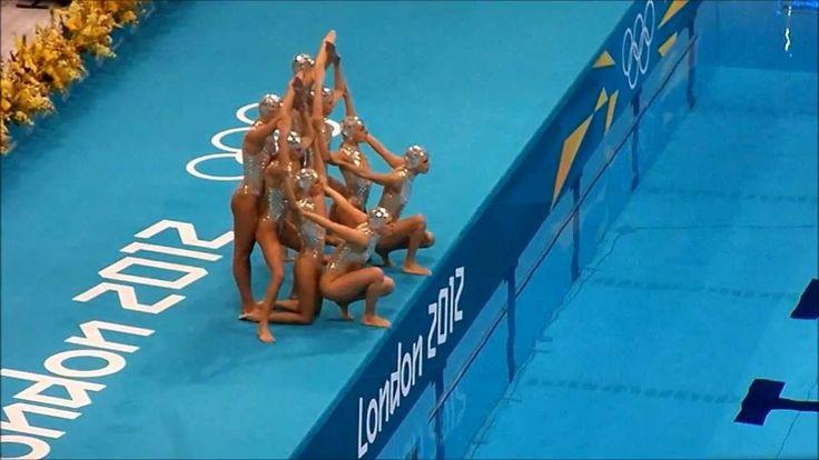 London Olympics 2012 Synchronized Swimming - Team Spain - YouTube - movimento - exercício - exercise - atividade física - fitness - corpo - body - beleza - estética - belo - beautiful - esporte - sport - artista - dança - dance - nado sincronizado