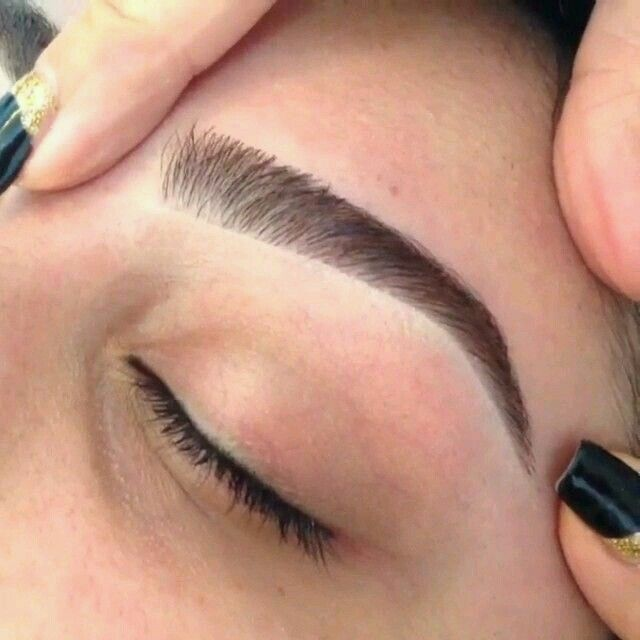 Image result for thick brow waxing