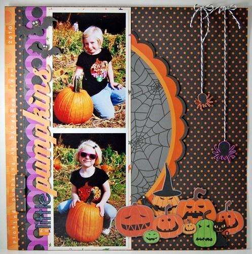 Spiders! Love the pumpkins!