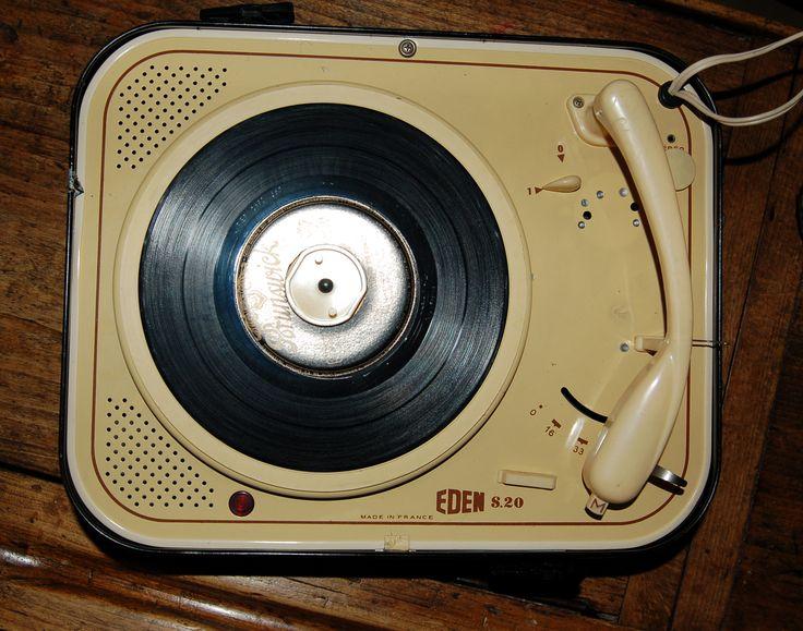 mon tourne disque eden sous marque de teppaz electrophone t l viseur gramophone. Black Bedroom Furniture Sets. Home Design Ideas