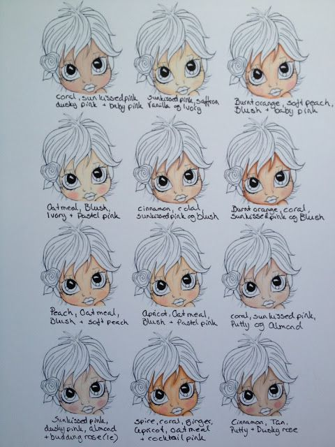 ProMarkerNorge ABC: My coloring book :) Skin Colours