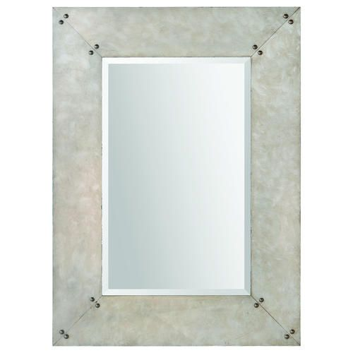 Original Hitchcock Butterfield 18quot X 36quot Parma Silver Framed Wall Mirror