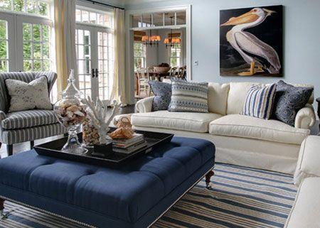 Denim decor in a home