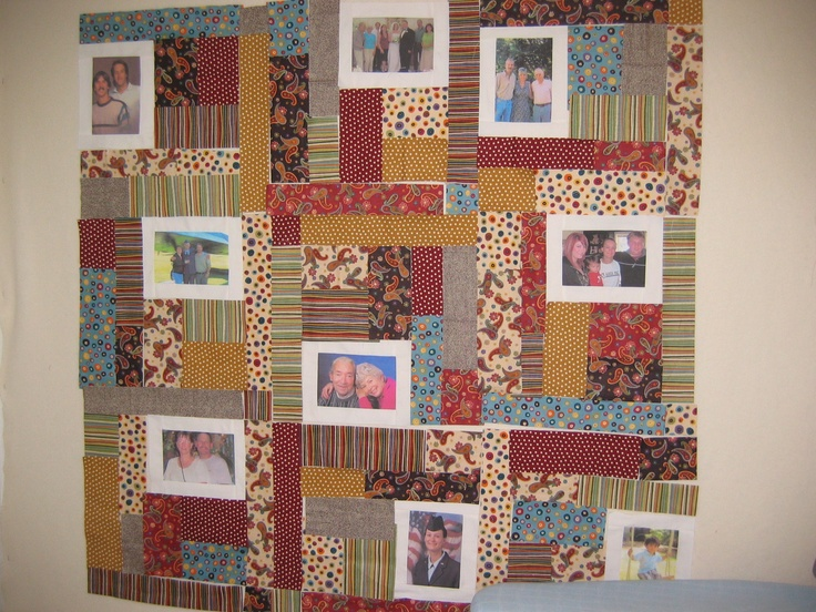 Memory quilt I made for my Father who had Alzheimers. Waiting to be sewn together.