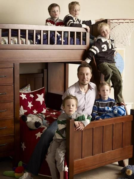 Elon Musk and his five kids