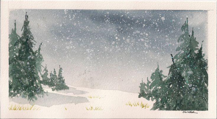 20 best snow scene images on Pinterest | Christmas cards, Snow ...