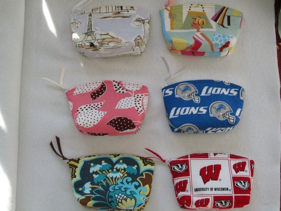 SALE Essential Oils Case Purse Small Cosmetic Bag Eiffel Tower-Fashion Modes-Leaves on Pink-Detroit Lions-Wis Badger-Floral
