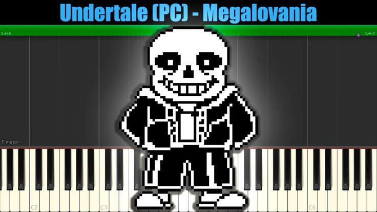 Undertale (PC) - Megalovania (Sans Battle) [УРОК PIANO SYNTHESIA]