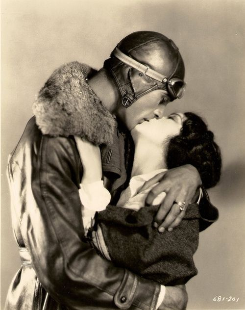 Gary Cooper and Fay Wray in the lost film Legion of the Condemned (William Wellman, 1928)  via yesmehappy