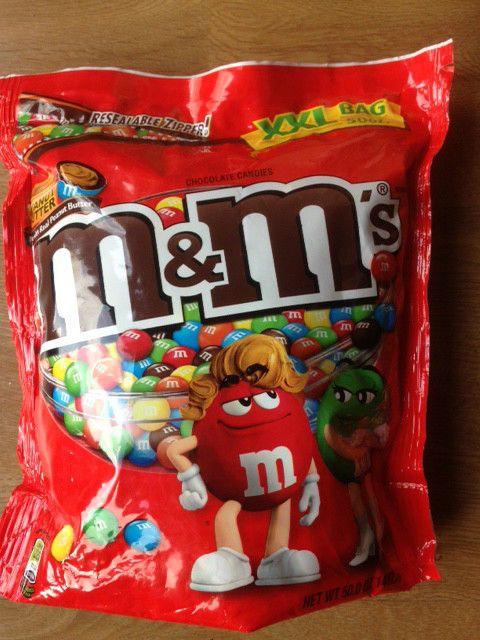 PEANUT BUTTER M&M s M ms m&ms XXL BAG 50oz 1.4kg BIGGER Bag American Candy | eBay