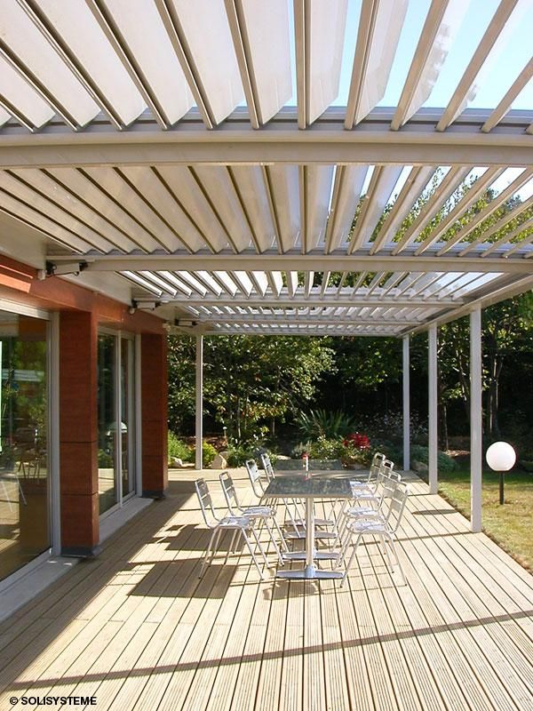 22 best pergola alu bioclimatique lames orientables images on pinterest outdoor patios. Black Bedroom Furniture Sets. Home Design Ideas