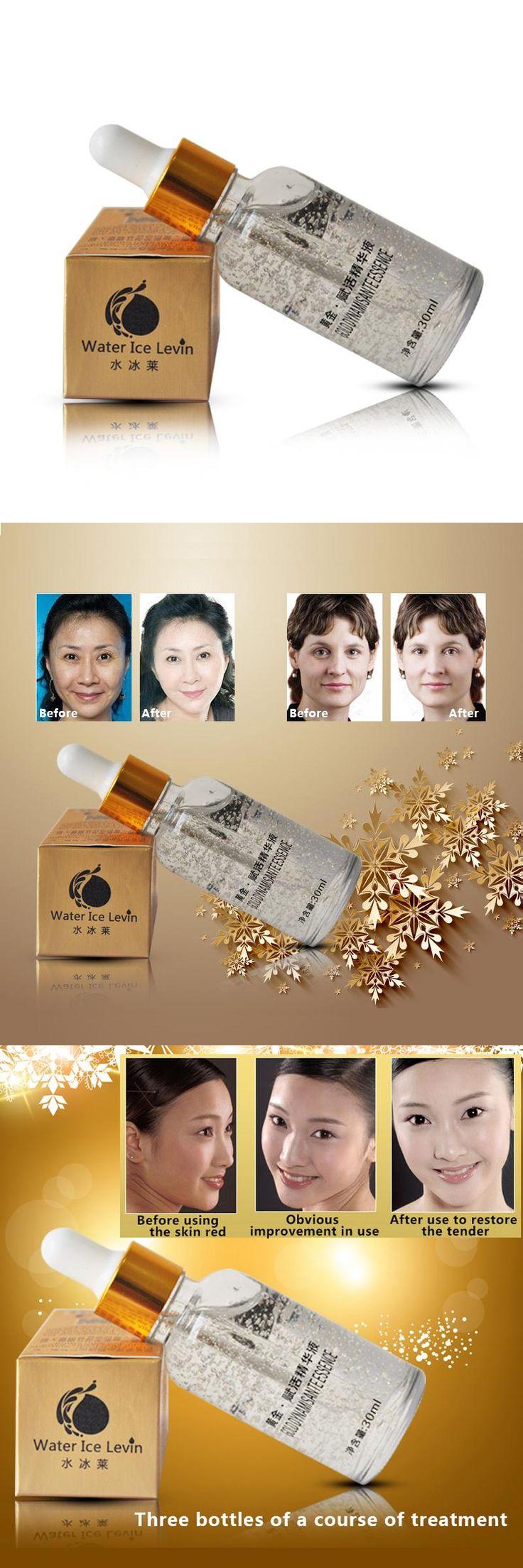 [Visit to Buy] 30ml 24k Pure Gold Foil Essence Moisturizing Anti-Aging Remove Acne Anti-redness Hyaluronic Acid Whitening Face Cream Serum #Advertisement
