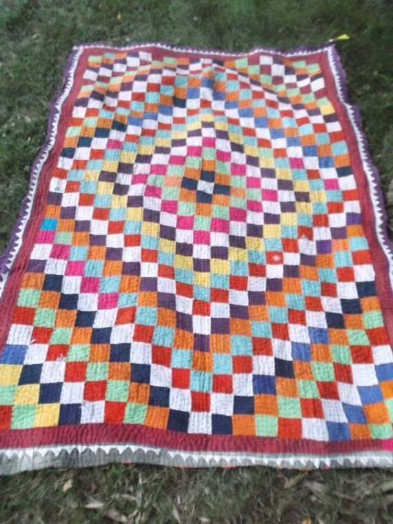 DISCOUNT Lovely Sindhi Patchwork Ralli Quilt.  by BlueTeddy